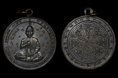 Moneta dell'amuleto, il ` s dell'amuleto più famoso e migliore dal Laos Fotografia Stock