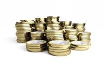 moneta dell'euro 3d illustrazione di stock