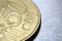 Moneta dell'euro dai cinquanta centesimi Immagini Stock
