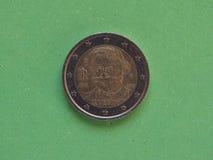 Moneta dell'euro 2 dall'Italia Immagine Stock Libera da Diritti