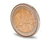 Moneta dell'euro due Immagine Stock Libera da Diritti