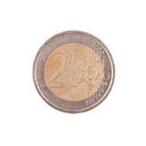Moneta dell'euro due Fotografie Stock Libere da Diritti