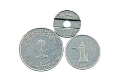 Moneta dell'Israele e degli Emirati Arabi Uniti Fotografie Stock