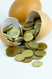 Moneta dell'uovo Fotografie Stock