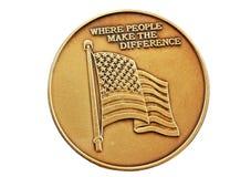 Moneta della bandierina degli Stati Uniti Fotografia Stock Libera da Diritti