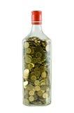 Moneta della bottiglia Fotografia Stock Libera da Diritti