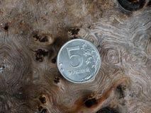 Moneta della rublo Fotografia Stock