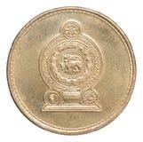 Moneta della rupia dello Sri Lanka Immagini Stock