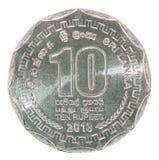 Moneta della rupia dello Sri Lanka Immagine Stock
