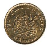 Moneta della Tailandia Ritratto di re Bhumibol Adulyadej Immagine Stock Libera da Diritti