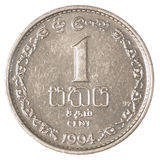 1 moneta dello Sri Lanka dei centesimi della rupia Immagini Stock Libere da Diritti
