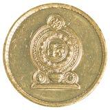 Moneta dello Sri Lanka della rupia 5 Fotografie Stock