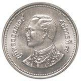 moneta di baht tailandese 2 Fotografie Stock Libere da Diritti