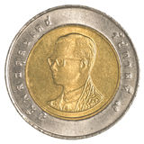 moneta di baht tailandese 10 Immagine Stock