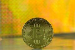 Moneta di Bitcoin Immagine Stock
