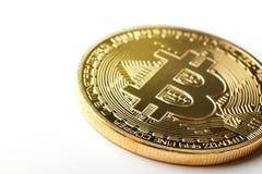 Moneta di Bitcoin immagine stock libera da diritti