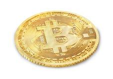 Moneta di bitcoin su un bianco mining illustrazione 3D Immagine Stock Libera da Diritti