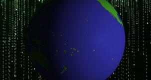 Moneta di cryptocurrency di iota MIOTA su terra video d archivio