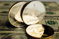 Moneta di Ethereum immagini stock libere da diritti
