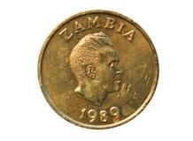 1 moneta di kwacha, la Banca dello Zambia Reverse, 1989 Immagine Stock Libera da Diritti