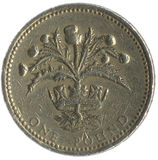 Moneta di libbra britannica Fotografia Stock