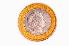Moneta di libbra due immagini stock libere da diritti