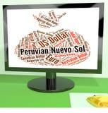Moneta di Nuevo Sol Shows Foreign Exchange And del peruviano Immagine Stock