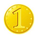 Moneta di oro Fotografie Stock