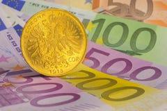 Moneta di oro Immagine Stock