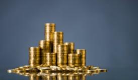 Moneta di oro Fotografie Stock Libere da Diritti