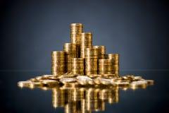 Moneta di oro Fotografia Stock Libera da Diritti