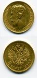 Moneta di oro Immagini Stock