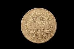 Moneta di oro antica dell'Austria-Ungheria Fotografia Stock