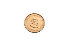 Moneta di oro da Arfica del sud Fotografia Stock