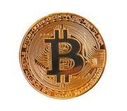 Moneta di oro digitale di cryptocurrency di Bitcoin Fotografia Stock Libera da Diritti