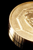 Moneta di oro puro Fotografie Stock Libere da Diritti