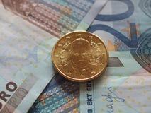 Moneta di papa Francis I Fotografia Stock Libera da Diritti