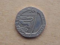 Moneta di penny 20 Fotografie Stock Libere da Diritti