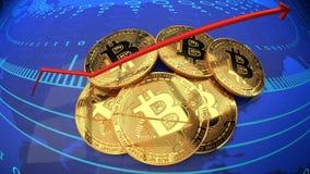 Moneta digitale di Internet, bitcoin, valuta cripto cyber royalty illustrazione gratis