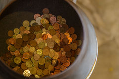 Moneta dla zasługi W świątyniach Obraz Royalty Free