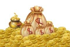 Moneta dorata Fotografia Stock