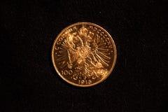 Moneta dorata Immagini Stock Libere da Diritti