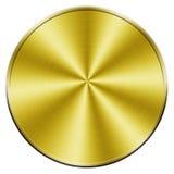 Moneta dorata in bianco Fotografie Stock Libere da Diritti