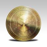 Moneta dorata di bancor sulla rappresentazione bianca del fondo 3d Fotografie Stock Libere da Diritti