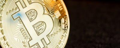 Moneta dorata di Bitcoin Immagini Stock Libere da Diritti