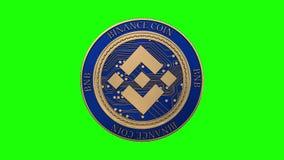 Moneta dorata di cryptocurrency della moneta di Binance illustrazione vettoriale