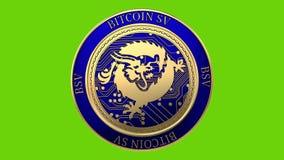 Moneta dorata di filatura di Bitcoin SV royalty illustrazione gratis