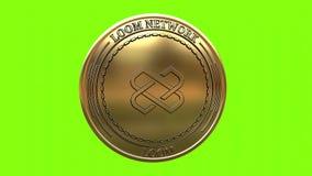 Moneta dorata di filatura del TELAIO della rete del telaio illustrazione di stock