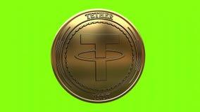 Moneta dorata di filatura della cavezza USDT royalty illustrazione gratis