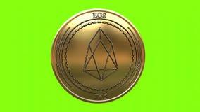 Moneta dorata di filatura di EOS illustrazione vettoriale